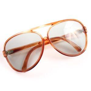 Vintage 70s Tortoise Oversized Aviator Sunglasses
